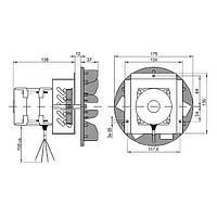 Вентилятор дымосос MplusM WWK180 60W