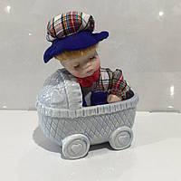 Фарфоровый пупс игрушка, подарок на рождение первенца, фото 1