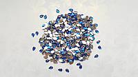 Стразы каплевидные (капля) граненая Синие 6x4 мм 100 шт/уп