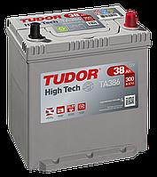 Автомобильный аккумулятор Tudor Asia High Tech, 38Ah/300A, R+, пусковой, свинцово-кислотный