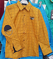 Подростковая рубашка на мальчиков в клетку 128,140,152,164 роста