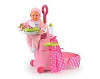 Кукольный набор Smoby Раскладной чемодан Minnie 24207