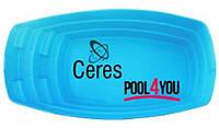 Бассейн  из стекловолокна POOL4YOU Ceres (стоимость чаши указана для базовой комплектации бассейна)