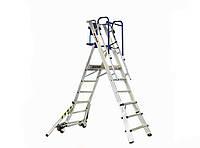 Двусторонняя телескопическая лестница-помост SVELT TELEFLY 4 ст.