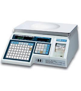 Торговые весы Cas LP 1.6 с печатью этикетки 6 кг