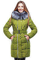 Молодежная курточка с мехом чернобурки