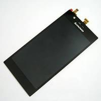Дисплей с сенсорным экранов для телефона Lenovo K900 черный