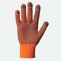 Перчатка с точкой ПВХ (оранжевые)