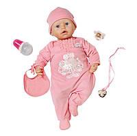Интерактивная кукла Baby Annabell Настоящая малютка 46 см с аксессуарами и озвучкой оригинал, фото 1