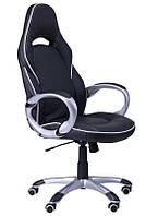 Кресло Страйк (CX 0496H Y10-02) Черный/кант Белый
