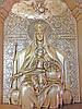 Икона деревянная резная Божьей Матери Державная