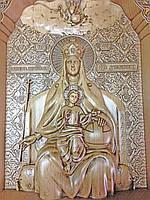 Икона деревянная резная Божьей Матери Державная, фото 1