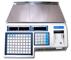 Весы для маркировки товара | Cas LP 1.6 с печатью этикетки | 15 кг