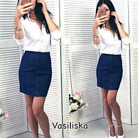 Женская модная джинсовая юбка