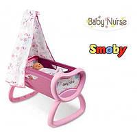 Колыбель кроватка для куклы с балдахином Baby Nurse Smoby 220301