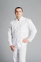 Мужской медицинский костюм «ИДЕАЛ» белый