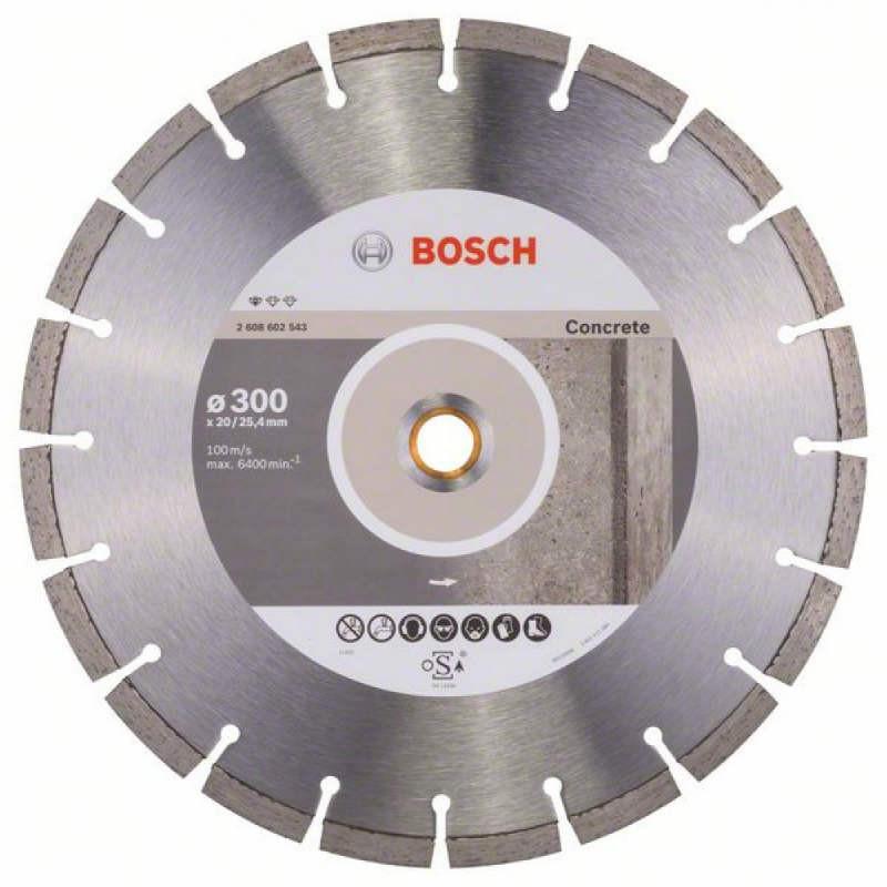 Алмазный отрезной круг Bosch Standart for Concrete300x20/25,4