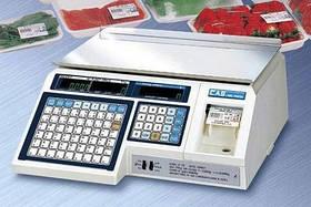 Торговые весы Cas LP 1.6 с печатью этикетки  30 кг