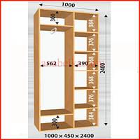 Шкаф-купе Стандарт дуб сонома 1000/450/2400 (Феникс)