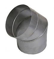 Колено 45° одностенное с нержавеющей стали d=180 толщина 0,6 мм