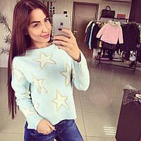 Женский свитер со звездами DB-2150