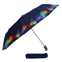 Зонт  кляксы на черном 301D-03