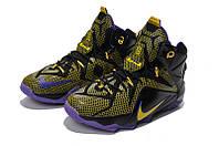 Мужские баскетбольные кроссовки Nike Lebron 12 (Hyper Grape Black Yellow), фото 1