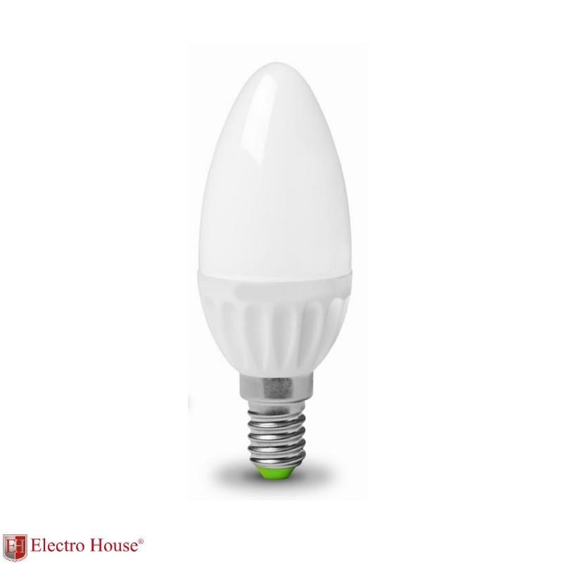 ElectroHouse Лампа светодиодная  свеча  E14 5W