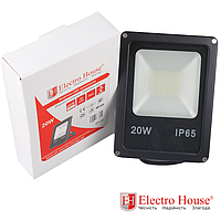 ElectroHouse LED прожектор 20W IP65 ElectroHouse