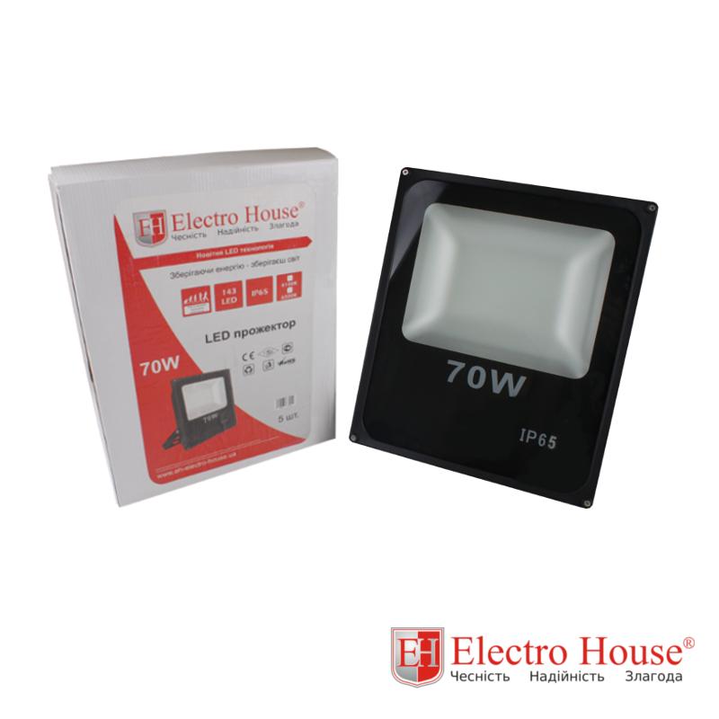 ElectroHouse LED прожектор 70W IP65 ElectroHouse