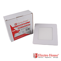 ElectroHouse Панель светодиодная квадратная 6W