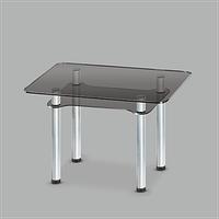Стол обеденный стеклянный Тетра GG/мет