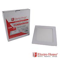 ElectroHouse Панель светодиодная квадратная 12W