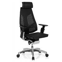 Кресло эргономическое компьютерное GENIDIA MESH COMFORT SEATING (кожаное)