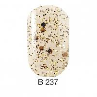 Покрытие для ногтей с золотистыми чешуйками и переливающимися блестками