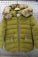 Куртка для девочки зимняя KIKO ZZ4153 Зеленый