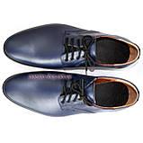 Мужские кожаные синие классические туфли от производителя, фото 3