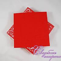 Праздничные салфетки красные