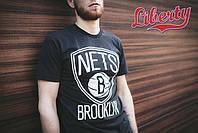 Футболка Punch- Brooklyn Nets, Black, серая, мужская одежда