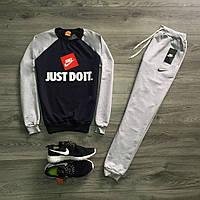 Спортивный костюм, серый, трикотаж M