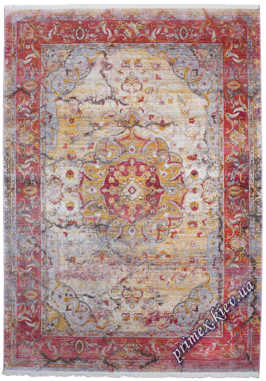 """Современный прямоугольный ковер Севен """"Мечеть"""", цвет белый"""