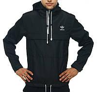 Анорак Adidas черный, ветровка, штормовка