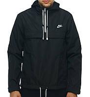 Анорак Nike черный, ветровка, штормовка