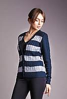 Кофта 9-1068 - синий/серый: 42,44,46, фото 1