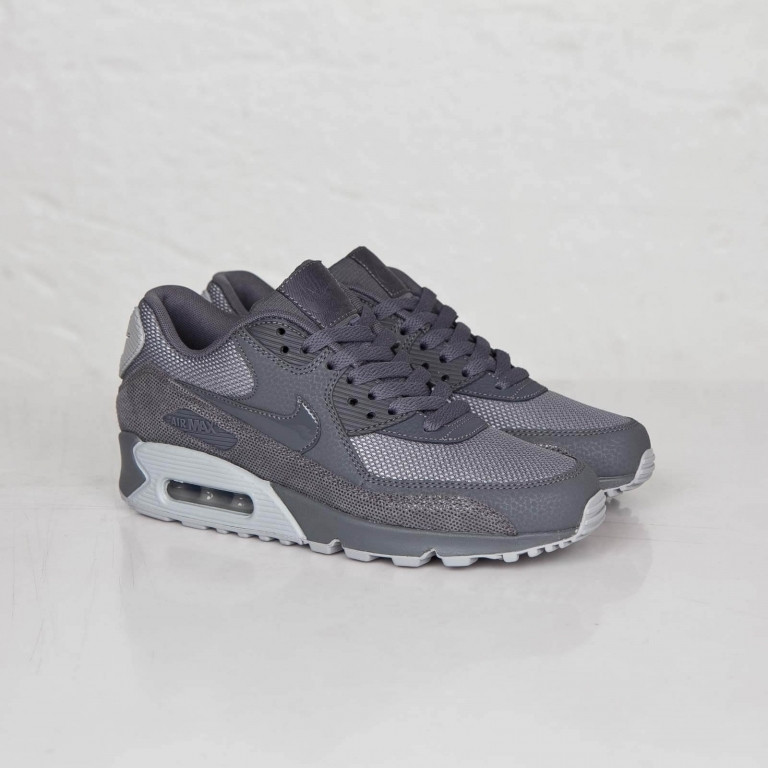 b4e7a0524e72 Женские кроссовки Nike Air Max 90 Premium Dark Grey Wolf Grey ...