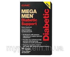 GNC качественные мультивитамины для мужчин диабетиков Mega Men Diabetic Support (90 caps)