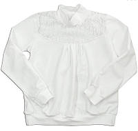 """Блуза для девочки белая """"Школьная"""", рост 122"""