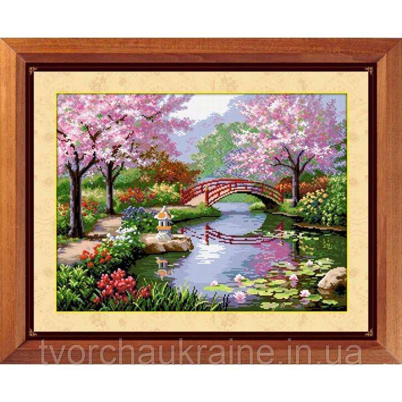 """Набор для рисования квадратными камнями """"Японский сад"""""""