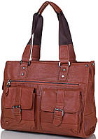 Компактная мужская сумка из натуральной кожи ETERNO (ЭТЭРНО) ET8076 коричневый