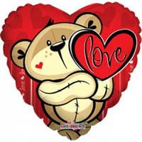 Гелиевый шар  love мишка